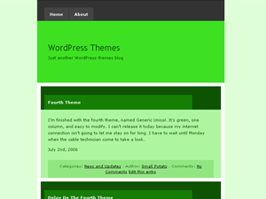 Generic Unicol WordPress Theme