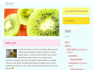 Fruitlicious WordPress Theme