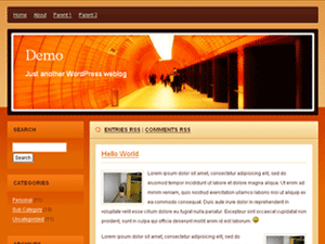 Orange Subway WordPress Theme