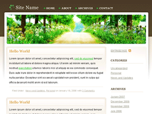 Peaceful Rush WordPress Theme