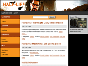 Half Life WordPress Theme