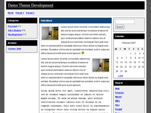 Oldschool WordPress Theme