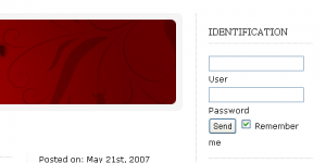 How to place a login form in the sidebar