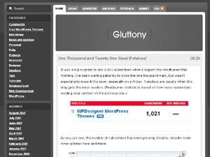 Gluttony WordPress Theme