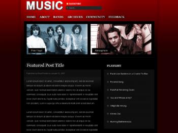 Music Theme Design Preview