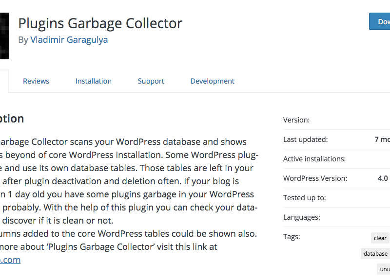 Plugins Garbage Collector