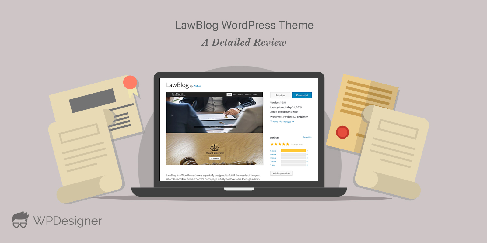 LawBlog theme review by WpDesigner