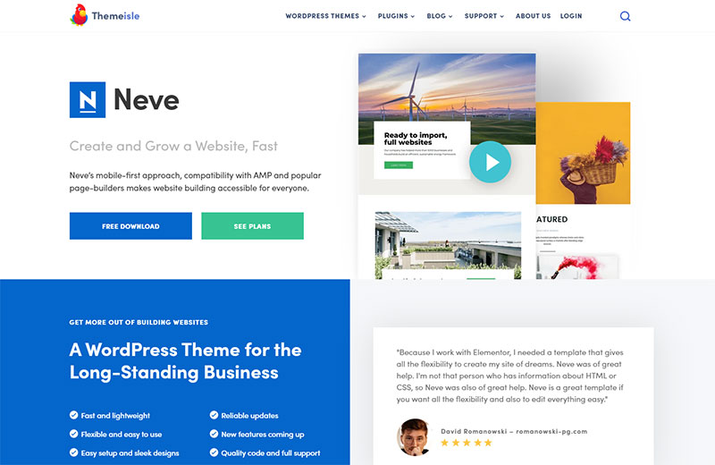 Neve WordPress themes